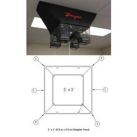 Zusatz-Messhaube 0,9 m x 0,9 m